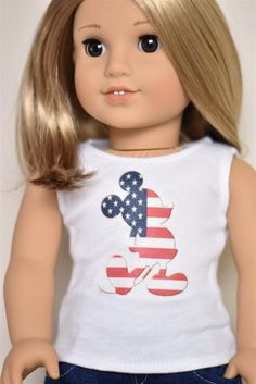 Listing includes one graphic top Top closes with snag free Velcro   I make outfits for 18 dolls like American Girl Dolls myself . I am not