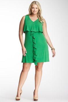 Sleeveless Center Ruffle Dress
