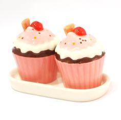 Salt and Pepper Shakers - Cupcake
