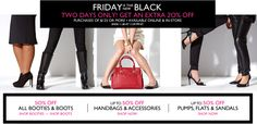 Friday is the new black on www.ninewest.com!