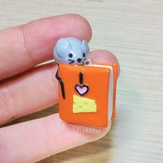 #mrsbrimblesoctdaily day 13, Book. Here's a charm I made a while back, I still think it's super cute