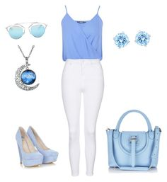 """""""House of blues"""" by michelle-zieminski on Polyvore featuring Miss Selfridge, Topshop, Christian Dior and Swarovski"""