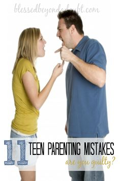 Don't make the same mistakes that I have and ponder this teen parenting advice