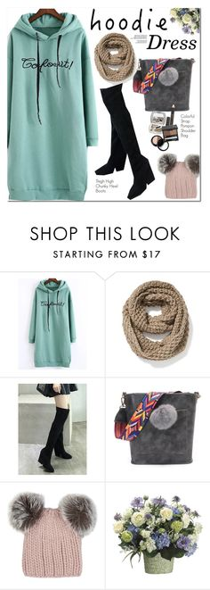 """Hoodie Dress"" by oshint ❤ liked on Polyvore featuring Old Navy and Eugenia Kim"