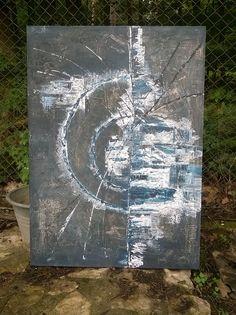 Autor: Lucie Nejedlová - Ateliér 26  Název díla: aequilibrium  Vznik: 7/2016  Rozměry: 72x100cm  Technika: akryl, výrazná struktura - vytvořeno modelací podkladu, broušením, stíráním a škrábáním s následnou malbou v několika vrstvách  Podklad: sololit, šepsovaný, tl. 5 mm, na dřevěném rámu - přímo k zavěšení  Obraz je signován a ošetřen matným lakem.  Na prodej: 4900,- Kč