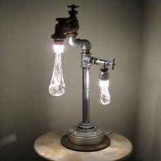 Great collection of cool lamps designs. Great collection of cool lamps designs. - Creative - Check out: Cool Lamps on Barnorama Casa Steampunk, Steampunk Lamp, Design Light, Lighting Design, Light Art, Light Bulb, Deco Luminaire, Drop Lights, Glass Lights