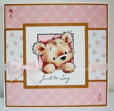 Good Morning Everyone, One of my New Years Resolutions was to make more cards and post more often. That's one out of the windo. Birthday Card Sayings, Happy Birthday Cards, Pretty Cards, Cute Cards, Scrapbook Cards, Scrapbooking, Tiddly Inks, Whimsy Stamps, Hobby House
