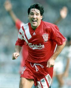 Dean Saunders of Liverpool in Liverpool Football Club, Liverpool Fc, Liverpool Legends, This Is Anfield, Retro Football, Dean, Hot, Football Soccer