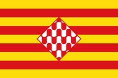Flag of Girona province Spain