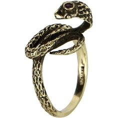 Pre-Owned Cobra Snake Ring Vintage 14k Yellow Gold ($595) ❤ liked on Polyvore featuring jewelry, rings, yellow gold, yellow gold rings, gold ring, gold snake ring, 14k gold ring and 14k gold jewelry