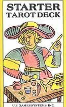 Perfect for beginners, the Starter Tarot Deck is complete with revised tarot motifs and interpretations and reversed meanings printed upon each card