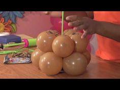 Bonito centro de mesa para toda ocasión - YouTube Balloon Centerpieces, Balloon Decorations, Silk Flowers, Paper Flowers, Heart Party, Mickey Mouse Parties, Party Hacks, Balloon Flowers, Ideas Para Fiestas