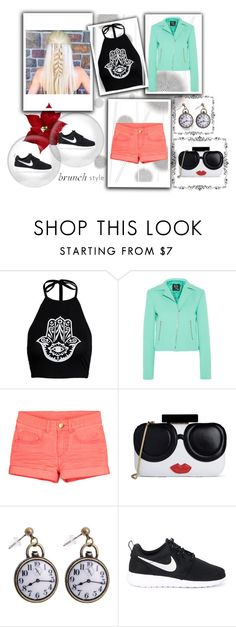"""""""personality"""" by roseryan13 on Polyvore featuring Komar, McQ by Alexander McQueen, Alice + Olivia and NIKE"""