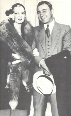 "Well-dressed Gun Moll with ""Machine Gun"" Jack McGurn Real Gangster, Mafia Gangster, Outlaw Women, Sleep With The Fishes, Famous Outlaws, Chicago Outfit, Mobb Deep, Al Capone, Tough Guy"