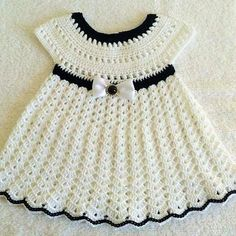 Crochet Baby Dresses 16952 crochet baby dress - My Pins - Crochet Baby Dresses 16952 crochet baby dress - Crochet Baby Dress Pattern, Baby Girl Crochet, Crochet Baby Clothes, Hand Crochet, Baby Christening Dress, Baptism Dress, Crochet Wedding Dresses, Diy Kleidung, Diy Dress