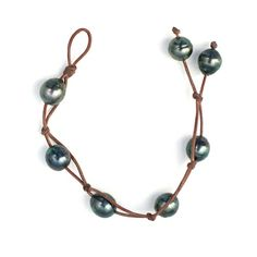Timeless Cool®: Fabulous Style........ Tahitian Pearls on Leather
