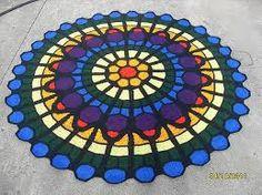 Image result for Cathedral Rose Window Afghan original
