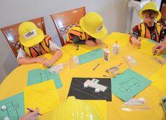 Bauarbeiter Kindergeburtstag Mottoparty - Indoor Spiele