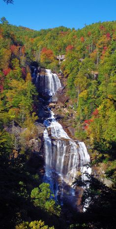 Upper Whitewater Falls in Nantahala National Forest in the North Carolina mountains