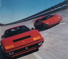 Ferrari 512 Berlinetta Boxer and Lamborghini Pretty Cars, Cute Cars, Classy Cars, Sexy Cars, R35 Gtr, Street Racing Cars, Drifting Cars, Jdm Cars, Car Wallpapers