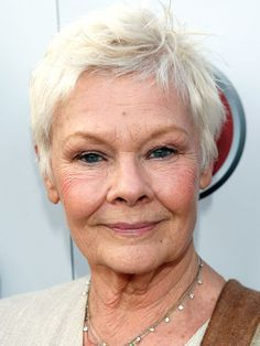 Who says gray hair can't have a little sass? Judi Dench's haircut is as spunky as it is easy to style.