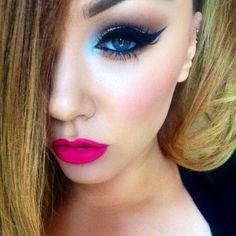 #ShareIG Good Morning  i love Saddle eyeshadow with a pop of egg-shell blue on the tear duct. To make the baby blue colour I mixed crystal avalanche and Tilt eyeshadows together  #mac #maccosmetics #anastasiabeverlyhills #ilovemakeup #ilovemacgirls #ilovemaciggirls #motd #liner #brighteyes #mua #macgirl #macgirls #macalackin #brows #contour #batalash #desimakeup #cirquelady_87 #snob_report #jaxvicious #amrezy #karlapowellmua  #vegas_nay
