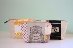 Scrap Fabric Cosmetics Bag {Tutorial}