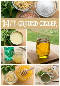 14 Ways to Use Ground Ginger - Learn how to use ground ginger powder from your grocery store to make these useful & natural home remedies. Learn how to use ground ginger powder from your grocery store to make these useful & natural home remedies. Cold Home Remedies, Natural Health Remedies, Herbal Remedies, Healthy Foods To Eat, Healthy Tips, Ginger Benefits, Health Benefits, Natural Healing, Holistic Healing