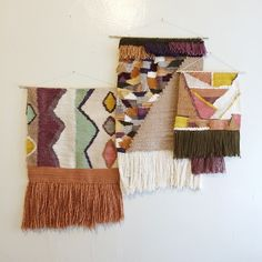 Handwoven Wall Hanging Tapestries by MINNA / Sara Berks. Weaving Weave www.minna-shop.com