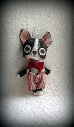 Boston Terrier doll by suziehayward