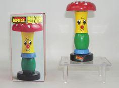 Vintage Brio Mushroom Stacking Wooden Toy Unused NIB Osby 0188 71388 New Sweden Brio Toys, Stacking Toys, Preschool Toys, Vintage Toys, Wooden Toys, Stuffed Mushrooms, Ebay, Photos, Toys
