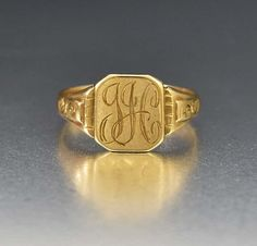 ad57eafbcb51f 60 Best Antique and Vintage Signet Rings images in 2019 | Signet ...