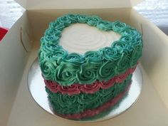 Rainbow Cake base with SMB rose icing design