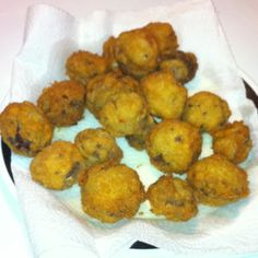 Homemade fried mushrooms!! Yum!!