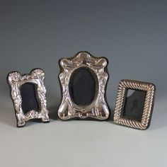 Set of Three Sterling Silver Picture Photo Frames