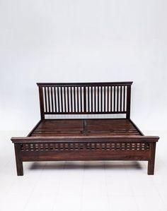 Vertical Stripe Sheesham Bed
