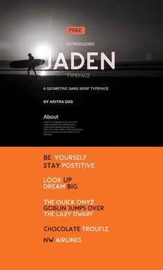 Jaden Typeface(FREE) on Behance