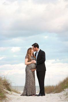 Beach Maternity Photography | Tiffany Carolyn Photography