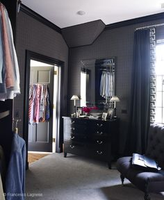 Love how dark the paint is on this bedroom! I would love to go this dark too