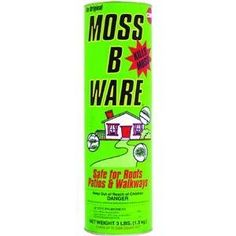 Excel Marketing 903 Moss-B-Ware Moss Control by Excel Marketing Central. $14.99. MATSON LLC. MATSON LLC #903 3LB Moss Killer. Moss B Ware controls moss on roofs, patios, decks, driveways, and walkways. Recommended for use on wood composition, concrete, or metal surfaces. 3 lb. canister treats 600 to 3000 sq. ft. Can be used in either dry powdered form or mix with water for liquid treatment. Active ingredient: Zinc Sulfate Mono Hydrate.