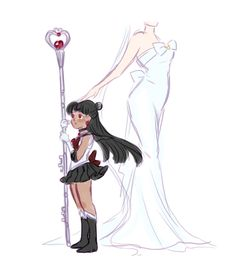Sailor Pluto and Queen Serenity