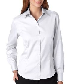 VAN HEUSEN Ldys Pinpoint Shirt Van Heusen. $54.88