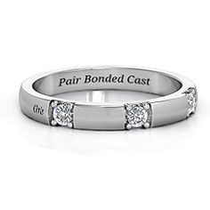 Elegant Three Gemstone Ring #jewlr Falconry Related Wedding Band!