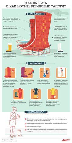 Как выбрать и как носить резиновые сапоги? Инфографика   Инфографика   Аргументы и Факты