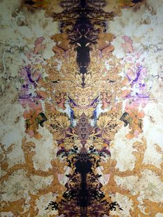 Timorous Beasties texture wallpaper from Bedsit exhibition at PCA