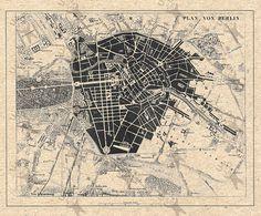 Vintage map of Berlin  Instant Download image от UnoPrint на Etsy