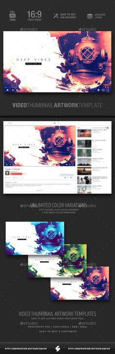 Deep Vibes - Video Thumbnail Artwork Template
