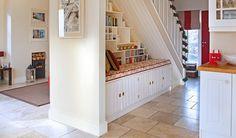 Under stair storage and seat