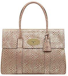 Bayswater Metallic Snake Print Handbag Mulberry 895 00
