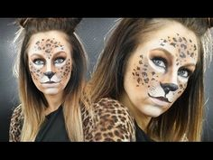 E7: Snap Chat LEOPARD Filter Halloween Makeup Tutorial - YouTube